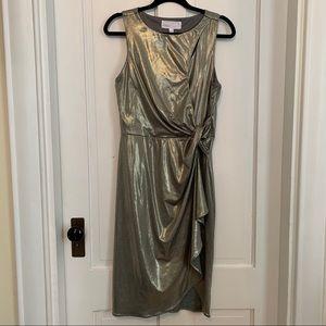 Superfoxx metallic dress size medium GUC
